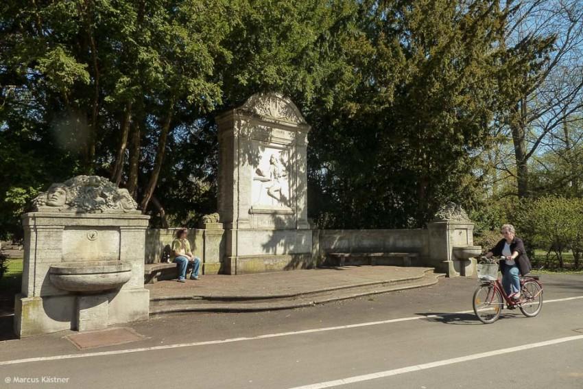 Ein Fahrradweg im Stadpark