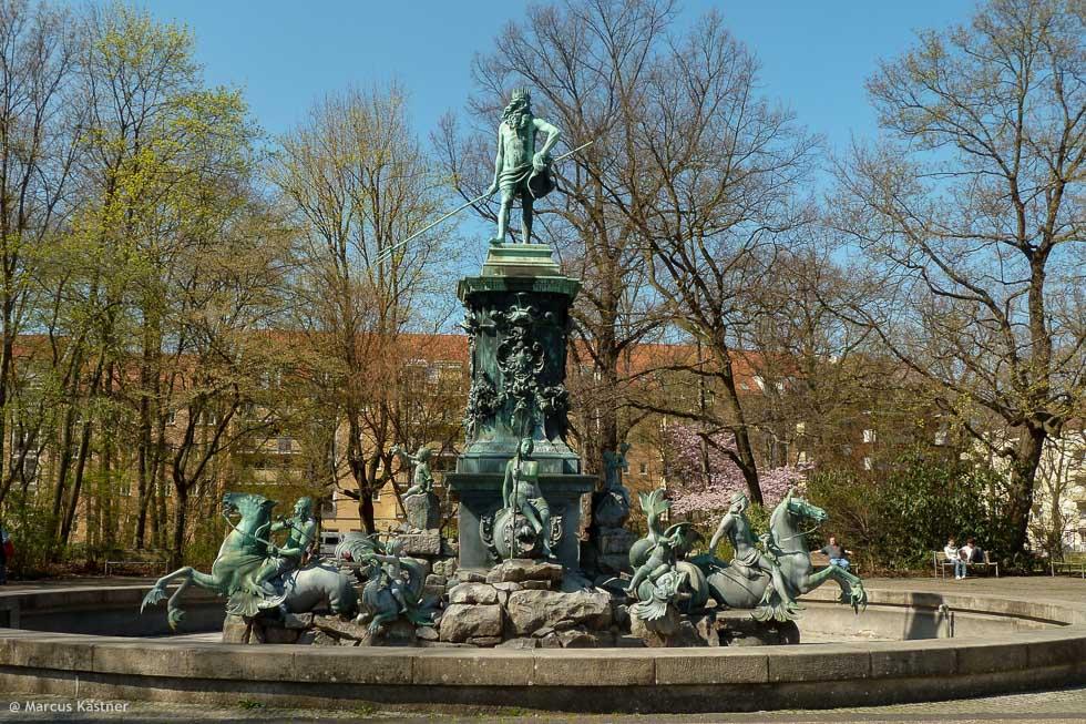 Neptun Brunnen, das Original stand mal auf den Hauptmarkt