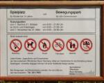 Parkregeln auf dem Spielplatz