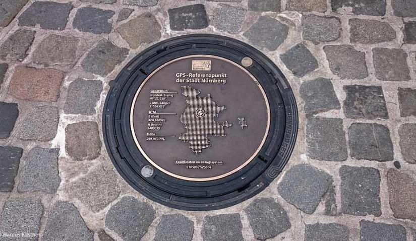 GPS-Referenzpunkt für Nürnberg