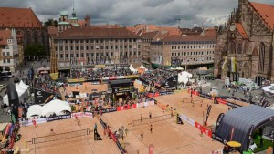 smart beach tour auf den Hauptmarkt in Nürnberg