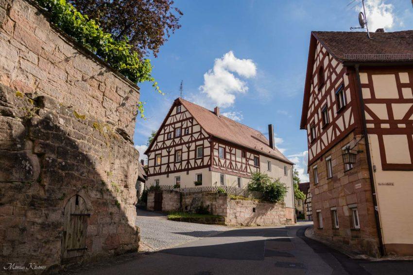 Auf dem Weg zur Burg von Cadolzburg